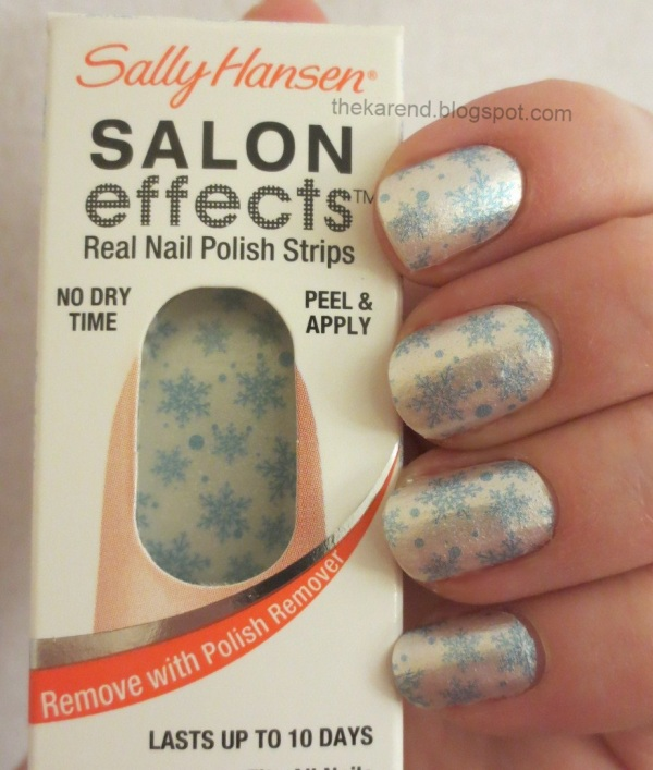 Frazzle and Aniploish: Recent NOTD: Sally Hansen Salon Effects Snow Way
