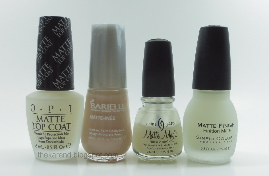 Opi Matte Topcoat And Comparisons