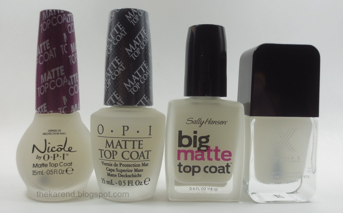 Frazzle and Aniploish: Matte Topcoat Comparisons, Part 6