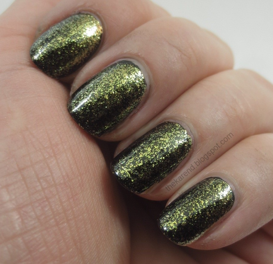 Frazzle and Aniploish: Nina Ultra Pro Gold Flake Topcoat