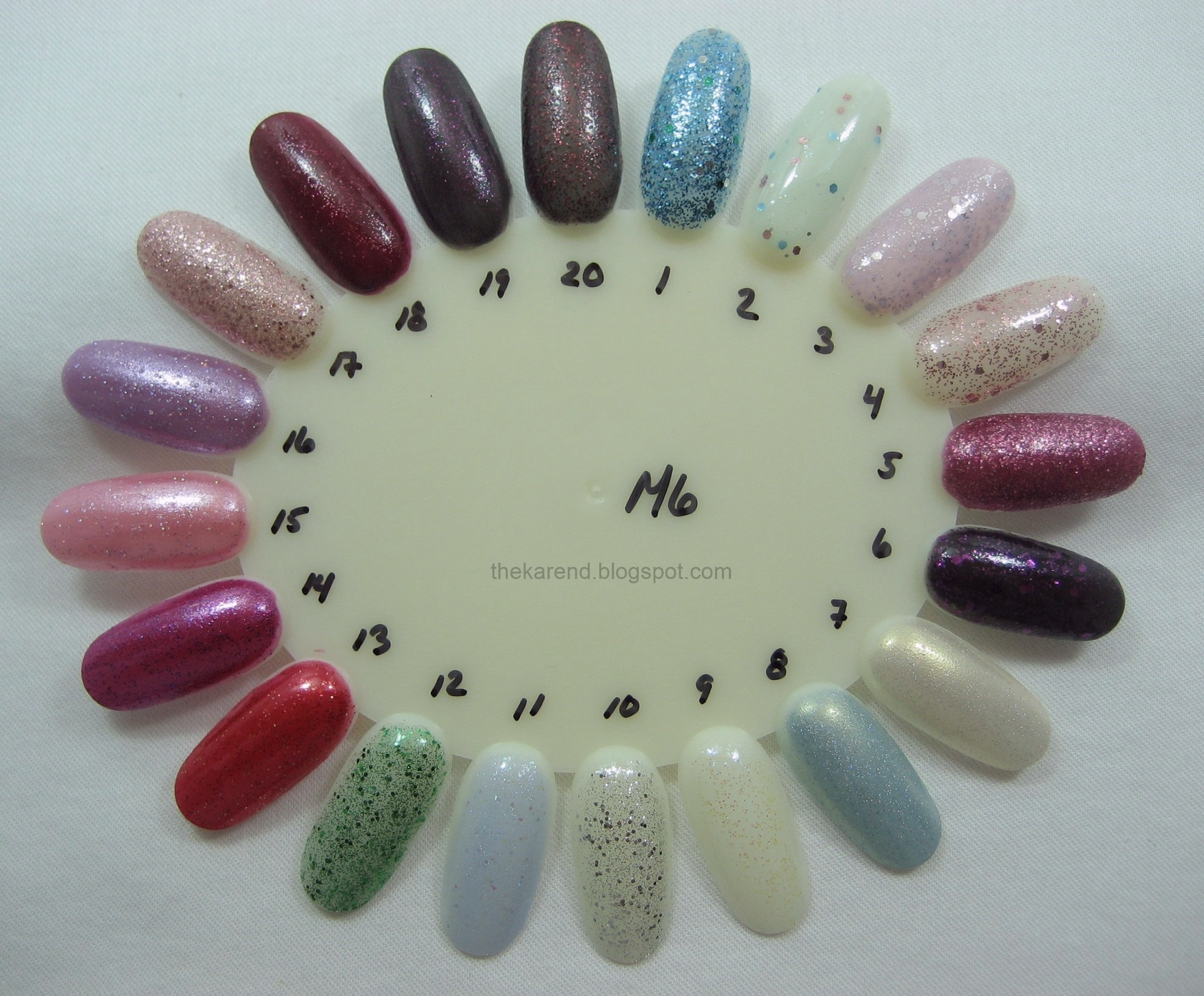 Frazzle and Aniploish: Wheel M6: Glitters from Revlon, Shades of the ...