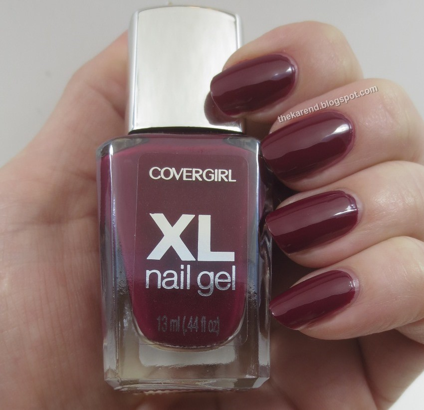Frazzle and Aniploish: Cover Girl XL Nail Gel Swatches and Nail Art