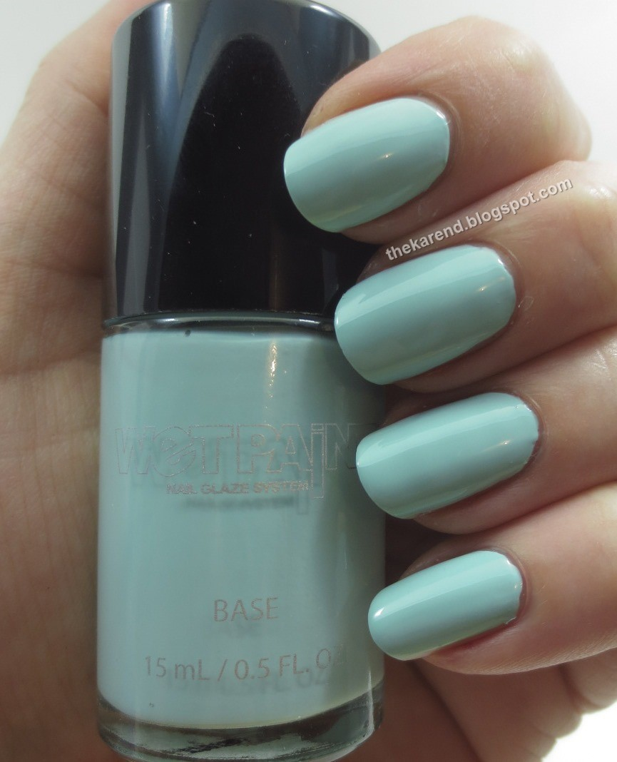 Let S Kick Things Off With Shock Aqua A Light Turquoise Creme I Used Two Coats For My Swatch The Formula Was Quite Nice
