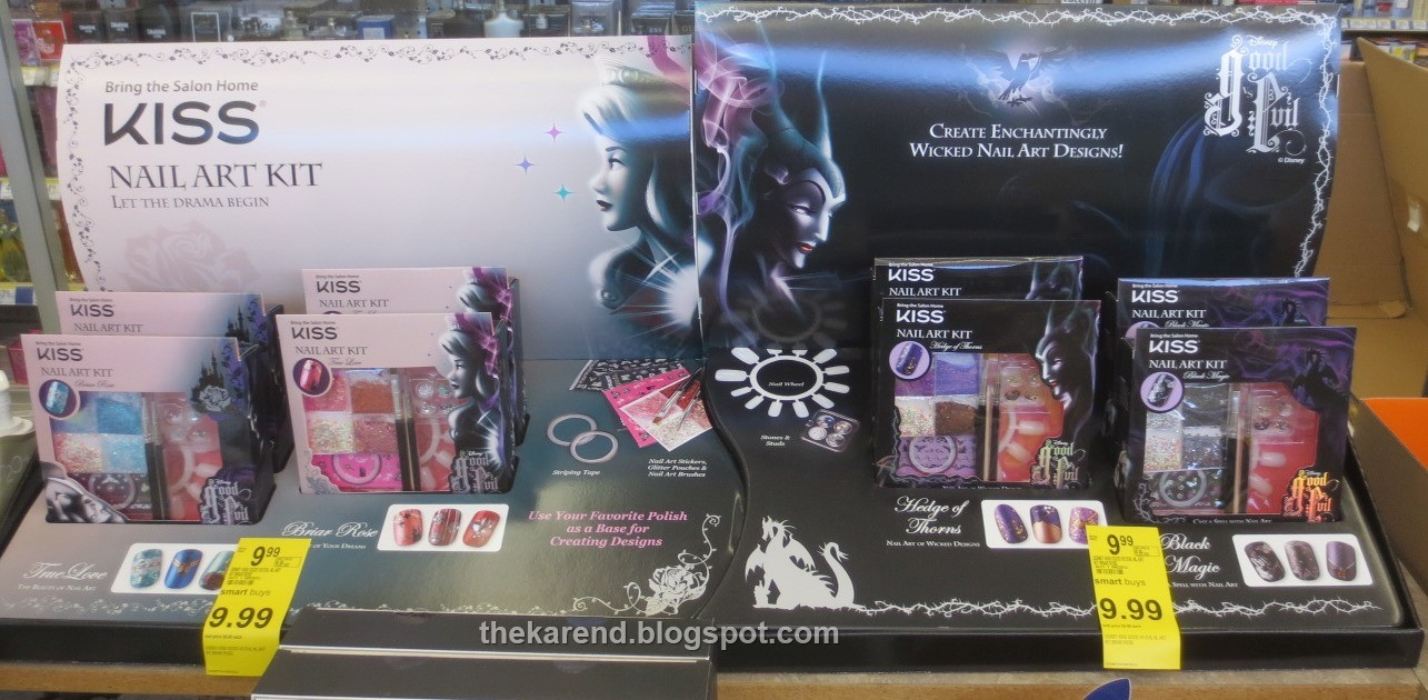 Frazzle and aniploish halloween and other displays kiss also has nail art kits in the disney good vs evil display at walgreens there are four kits two good bluepink princess themed and two prinsesfo Image collections