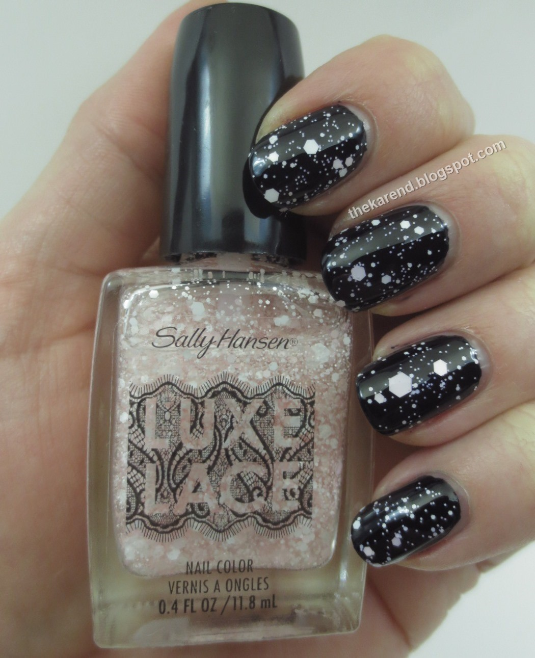 Frazzle and Aniploish: Sally Hansen Patent Gloss and Luxe Lace Swatches