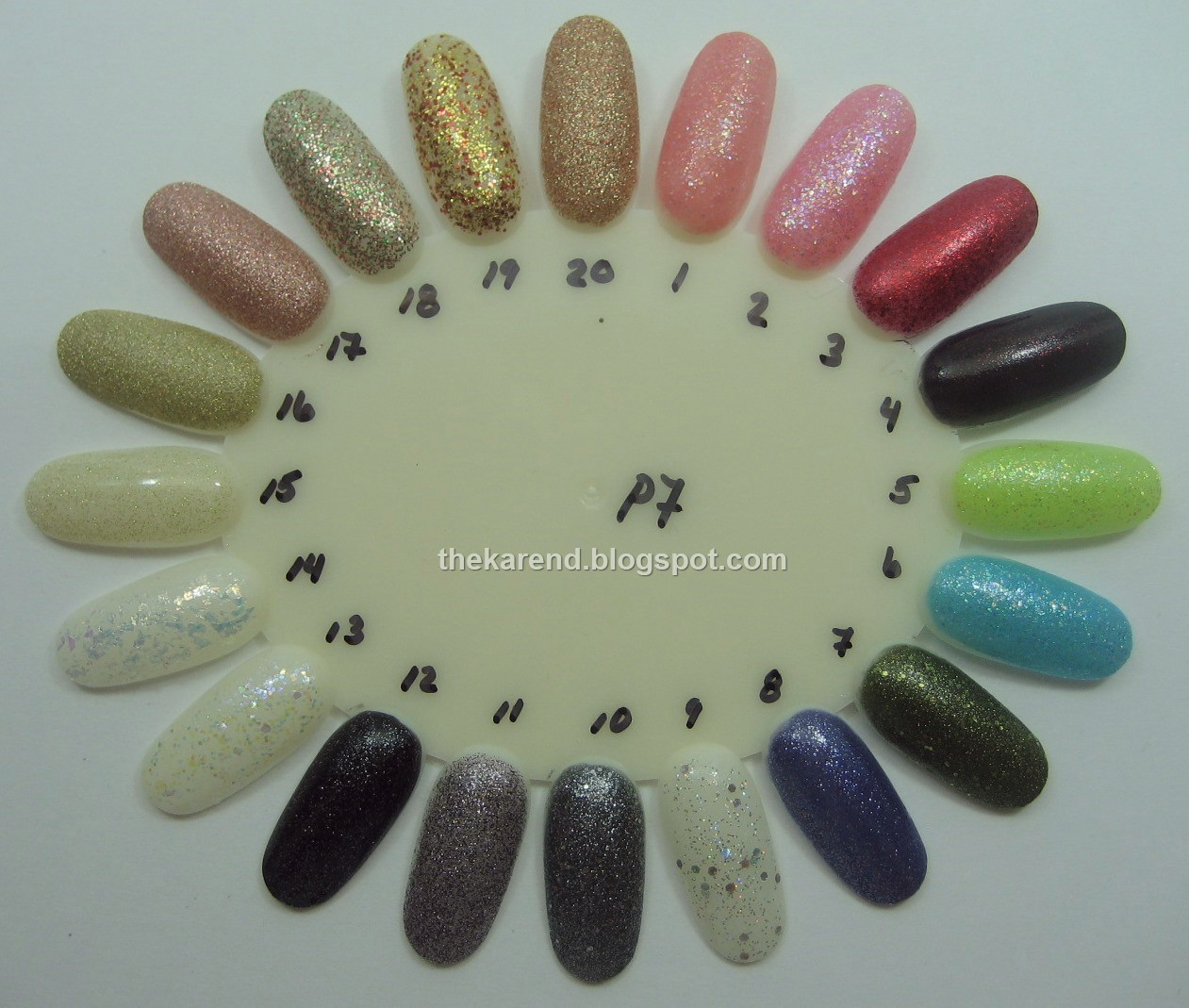Frazzle and Aniploish: Wheel P7: Glitters from China Glaze