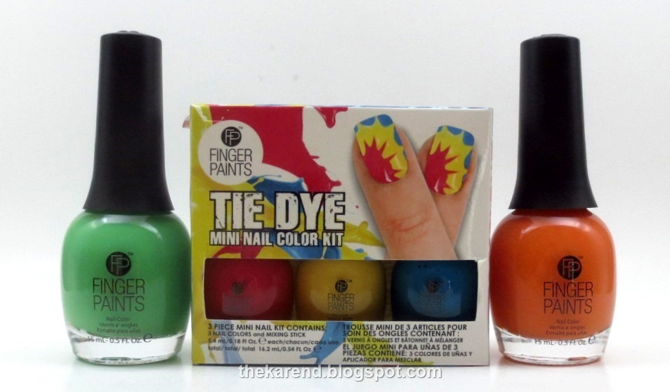 Frazzle and aniploish fingerpaints tie dye revolution i set out to recreate the nail art per the instructions on the mini kit by step 3 i was already distracted and thus failed to read the wipe stick clean solutioingenieria Images
