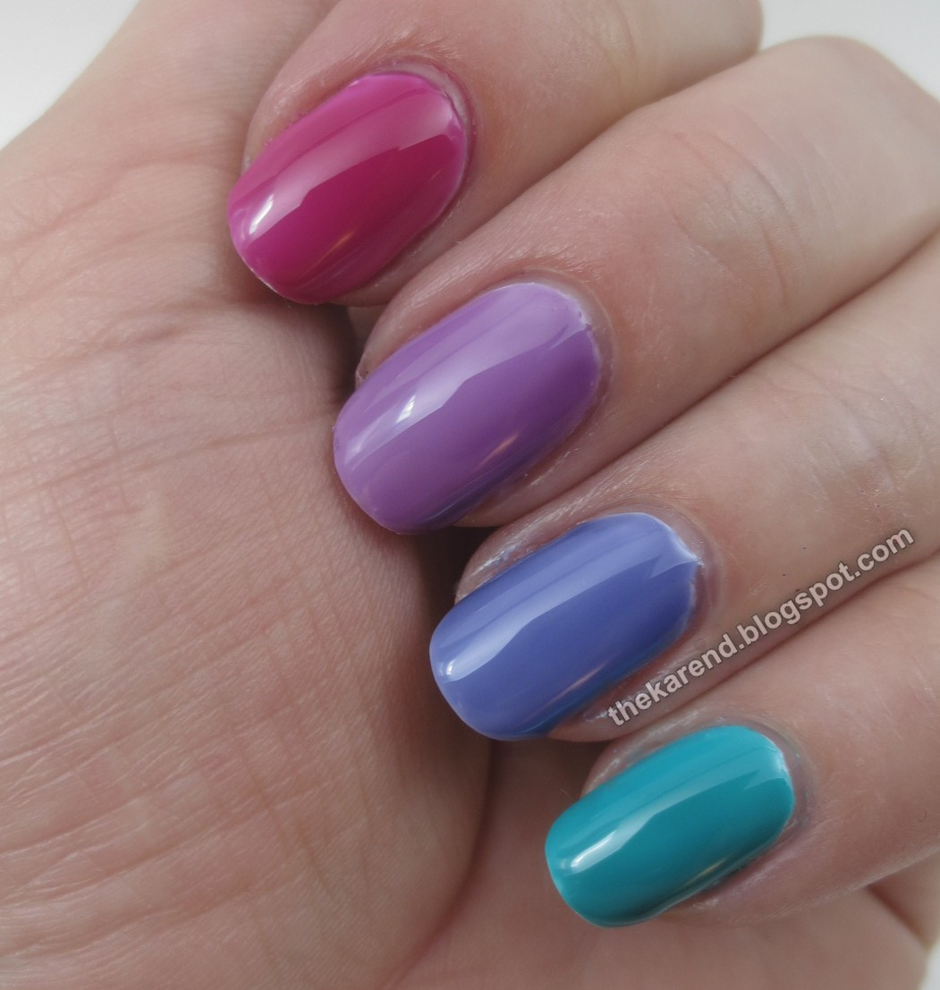 Frazzle and Aniploish: Essie Silk Watercolor Layering Experiments