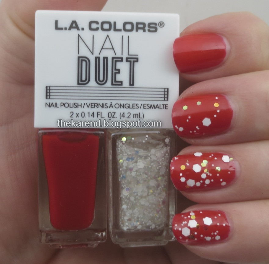 Frazzle and Aniploish: LA Colors Nail Duets, Part 2