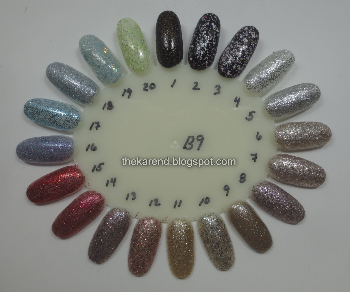 Frazzle and Aniploish: Wheel B9: FingerPaints Glitters