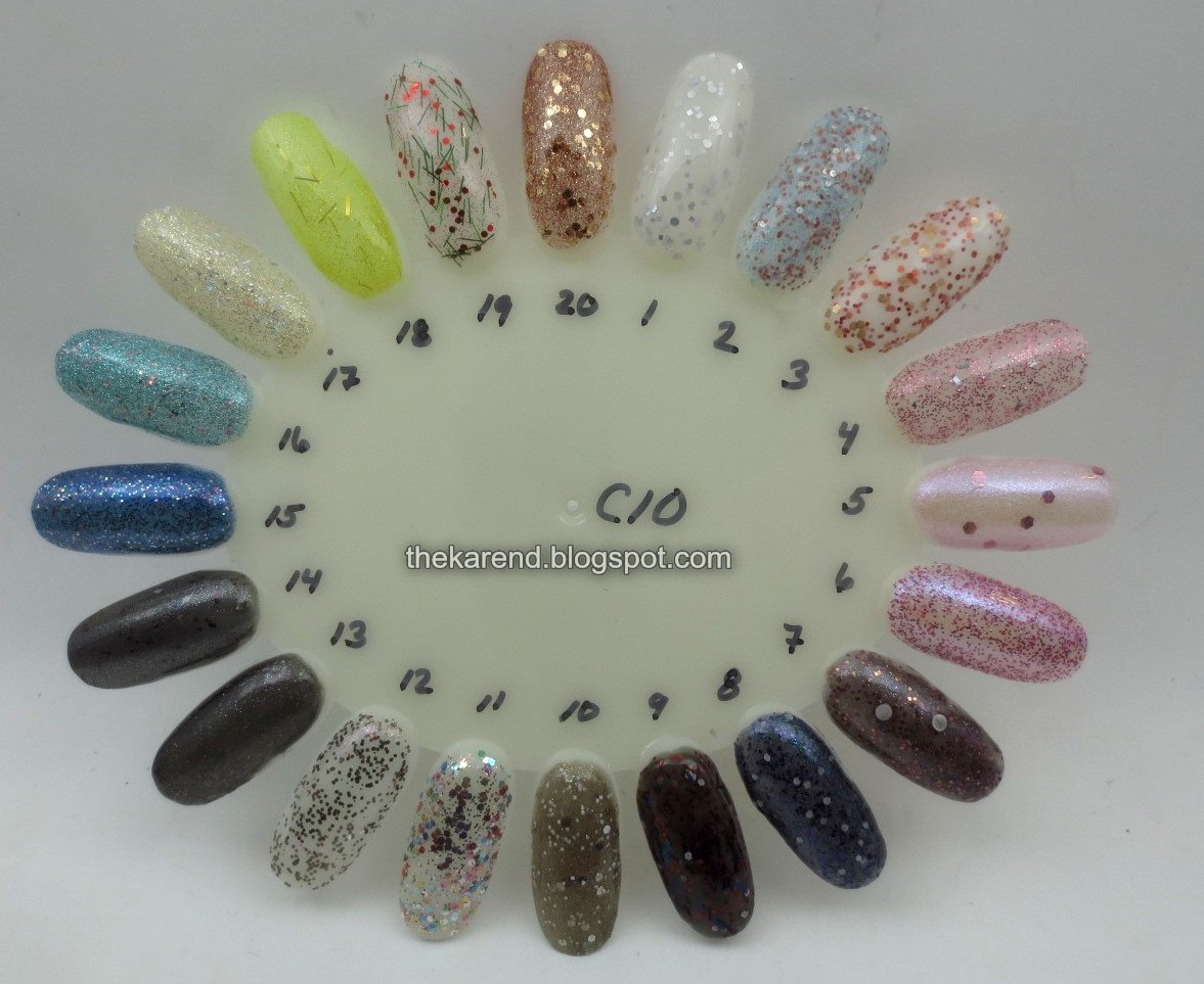 Frazzle and Aniploish: Wheel C10: Glitters from Orly