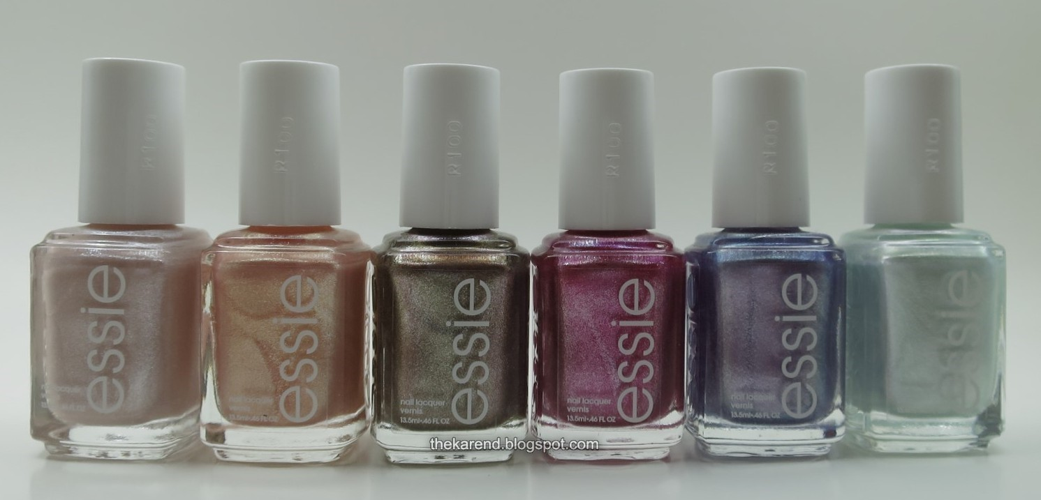 Frazzle and Aniploish: Essie Seaglass Shimmers Swatches