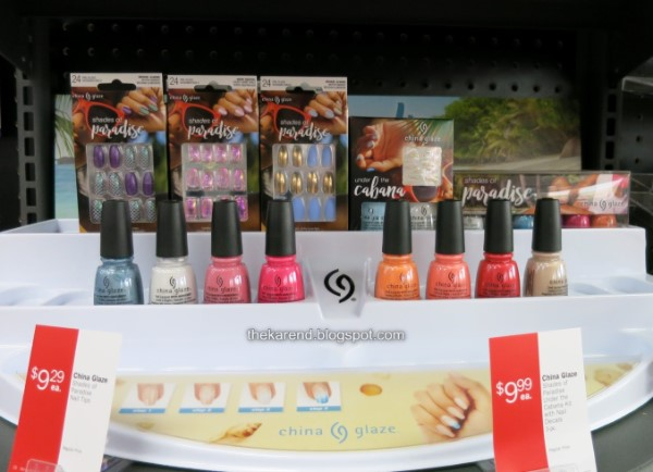 China Glaze Shades of Paradise collection display