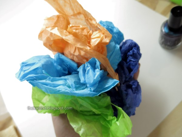 colorful crumpled tissue paper