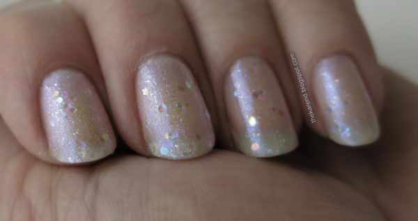 Funky Fingers Unicorn Dust and Essie TLC Laven-dearly