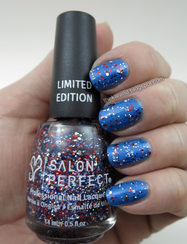 Salon Perfect Block Party Blue with Bling Bursting in Air