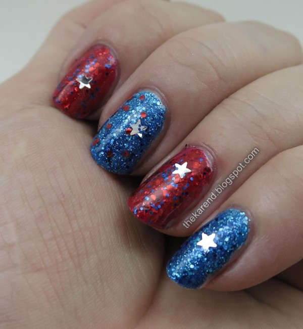 Salon Perfect Sea to Shimmery Sea and The American Sheen with Star Spangled Selfie