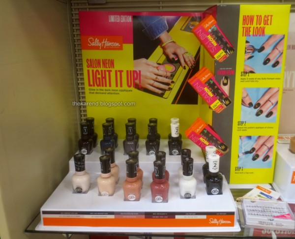 Sally Hansen Salon Neon nail polish display