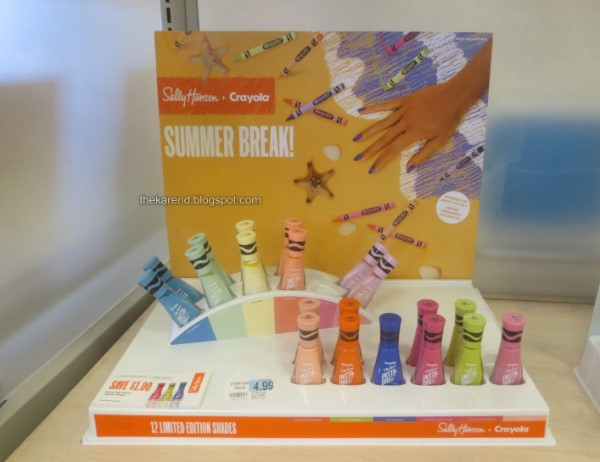 Sally Hansen Insta Dri Crayola nail polish display