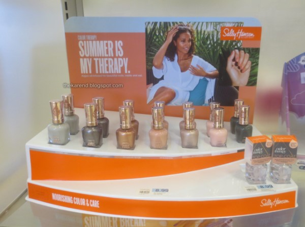 Sally Hansen Summer is My Therapy nail polish display