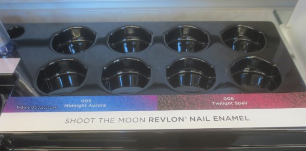 Revlon Shoot the Moon display