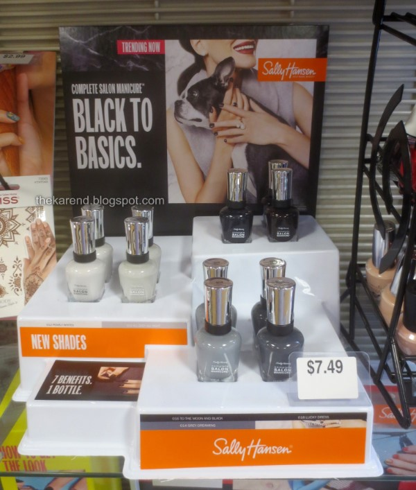 Sally Hansen Black to Basics nail polish display
