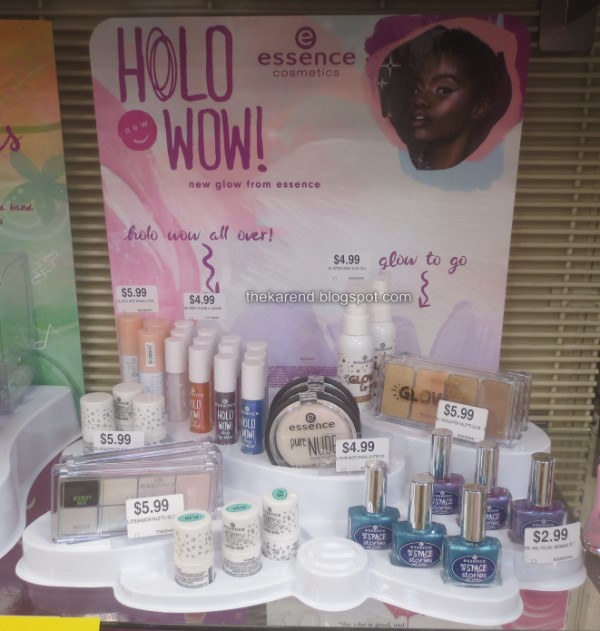 Essence Holo Wow display