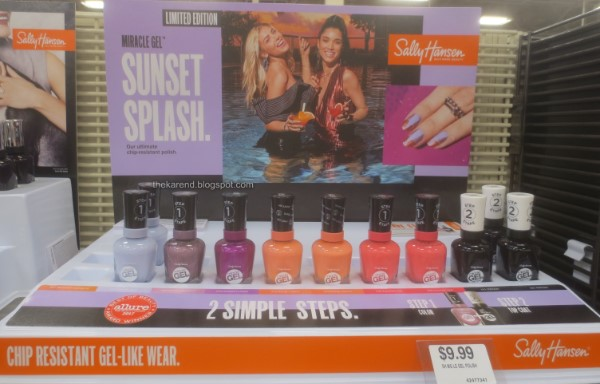 Sally Hansen Miracle Gel Sunset Splash nail polish display