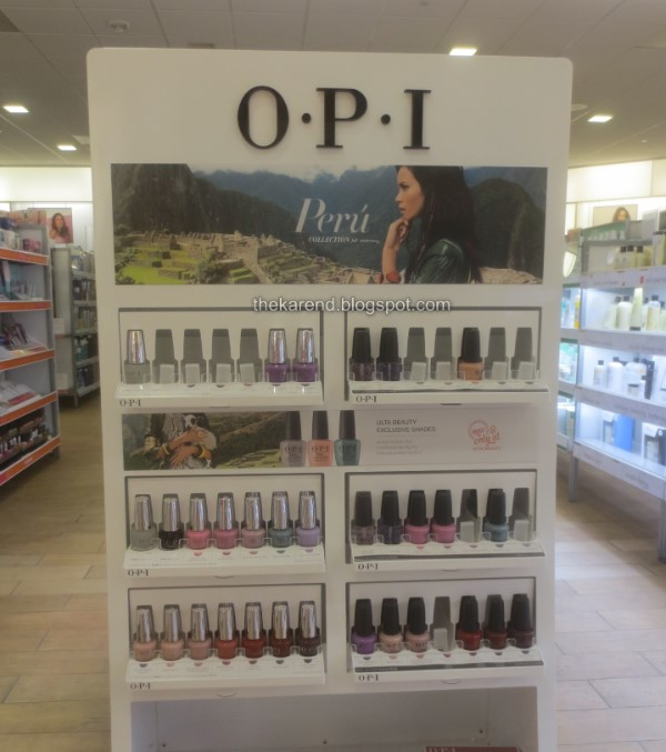 OPI Peru fall nail polish display