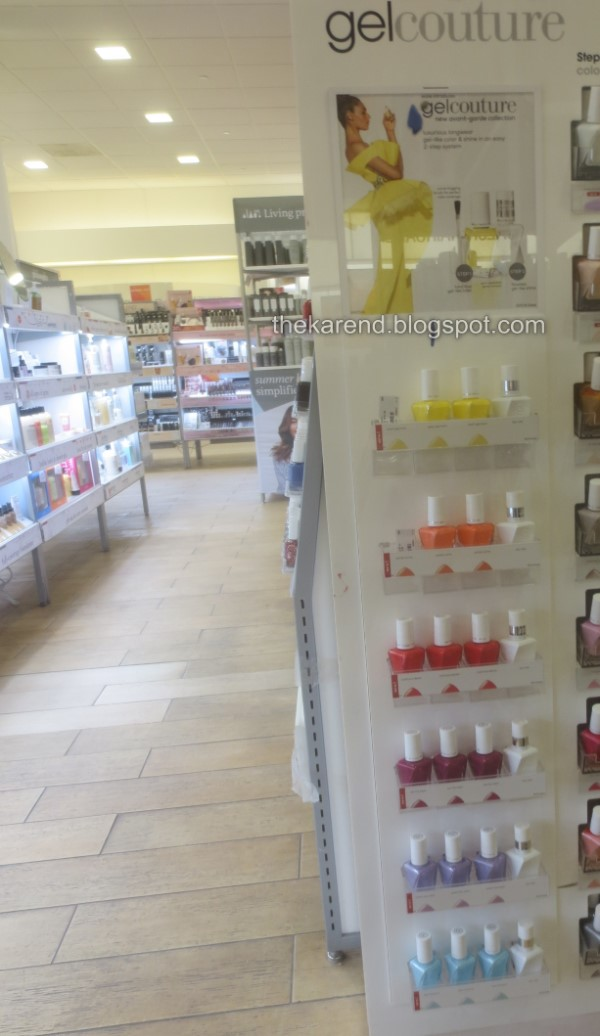 Essie Gel Couture nail polish display Avant-Garde