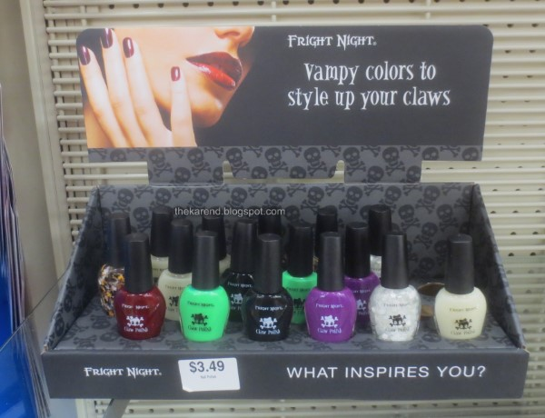 Fright Night Claw Polish nail polish display