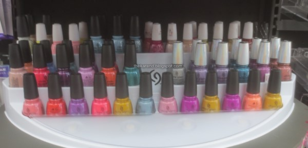 China Glaze nail polish display