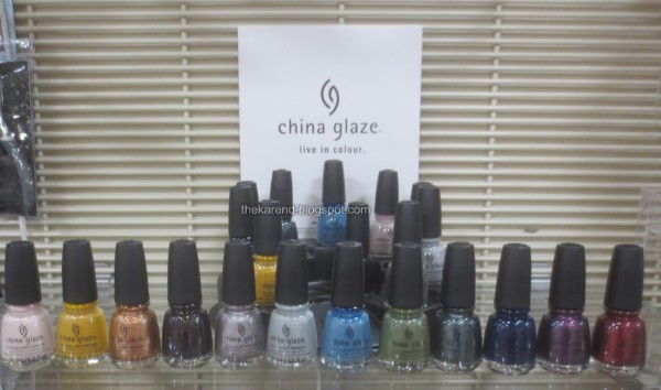China Glaze fall Ready to Wear nail polish display