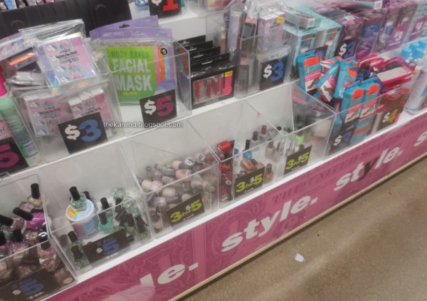 Five Below nail polish display