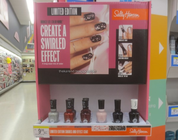 Sally Hansen Miracle Gel Color Whirl nail polish display