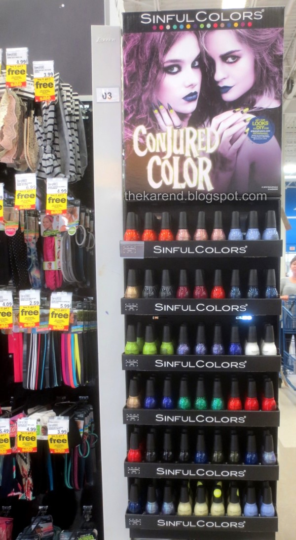 SinfulColors Conjured Color nail polish display