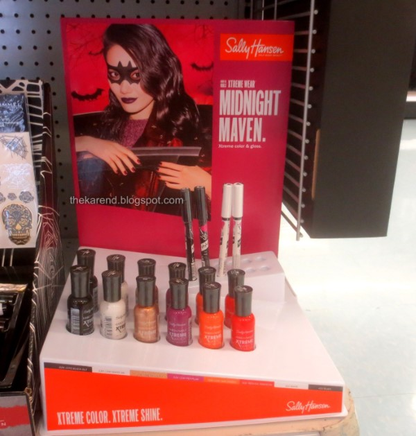 Sally HAnsen HAlloween nail polish display