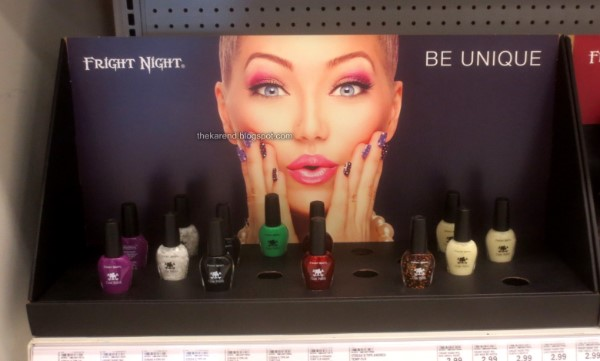 Fright Night nail polish display