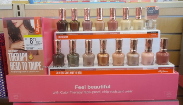Sally Hansen Therapy  Head to Taupe nail polish display