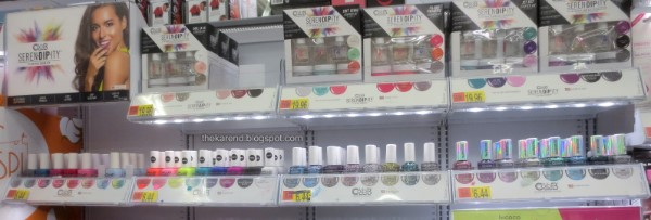 Color Club nail polish display