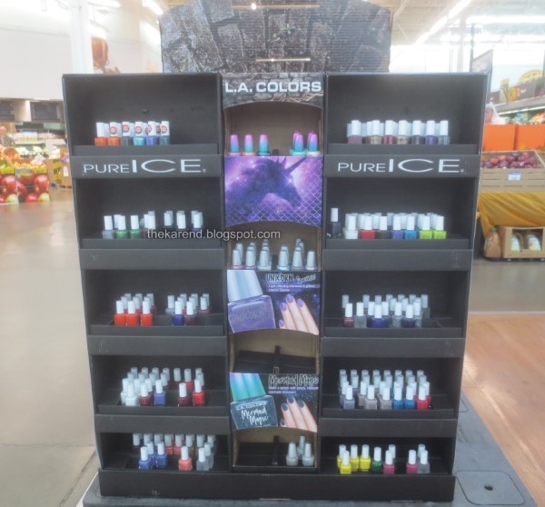 Pure Ice Halloween nail polish display
