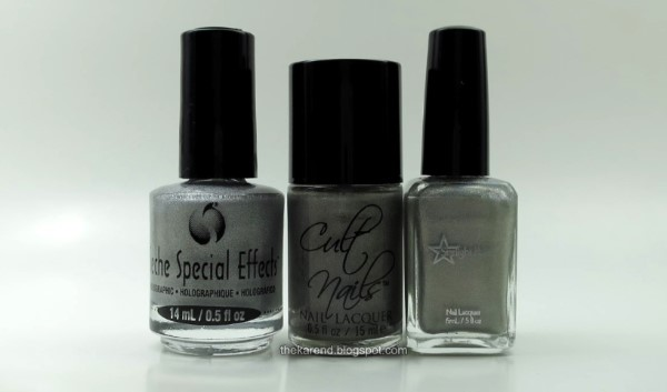 Seche Special Effects Holographic nail polish comparison