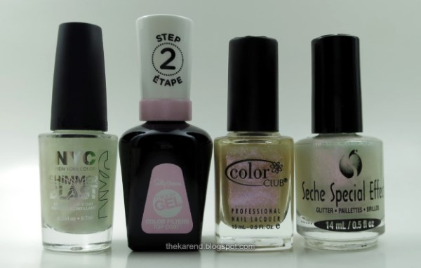 Seche Special Effects Glitter nail polish comparison