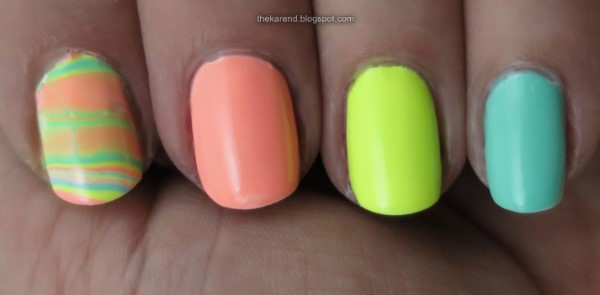 LA Colors Color Craze Gel Creamy Neon nail polish