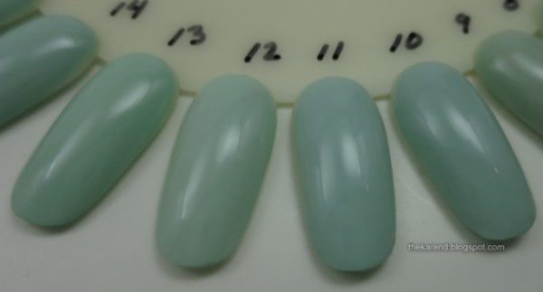 mint green nail polish