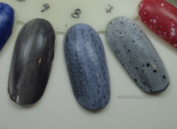 nail polish wheel with spotted and crackle polishes