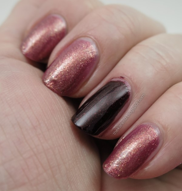 SinfulColors Quick Bliss Flushed and Blackcherry