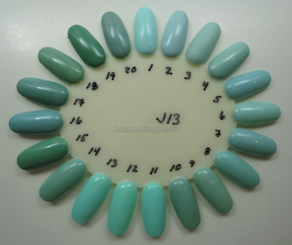 mint and seafoam green nail polish