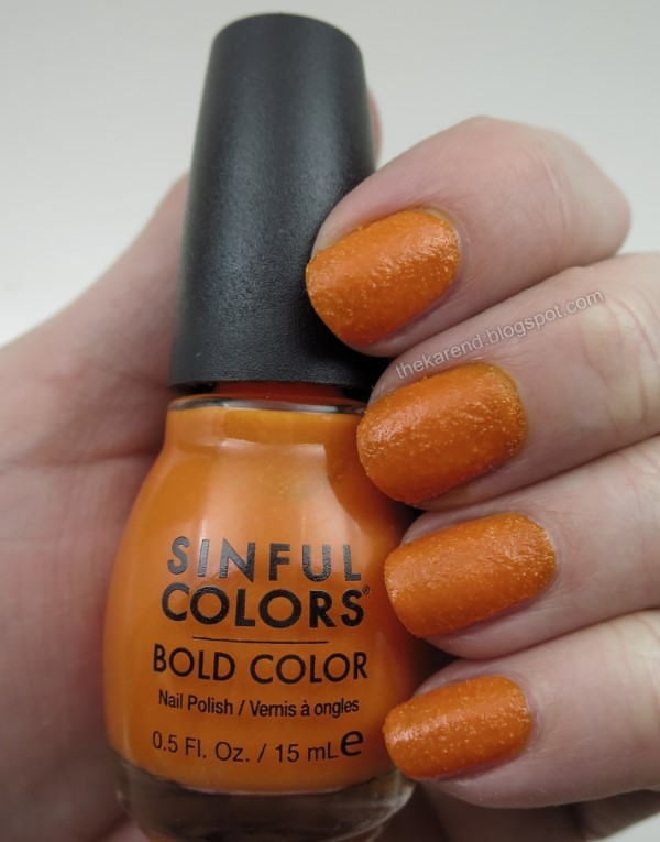 Sinful Colors Sweet & Salty nail polish collection Cheese Puff