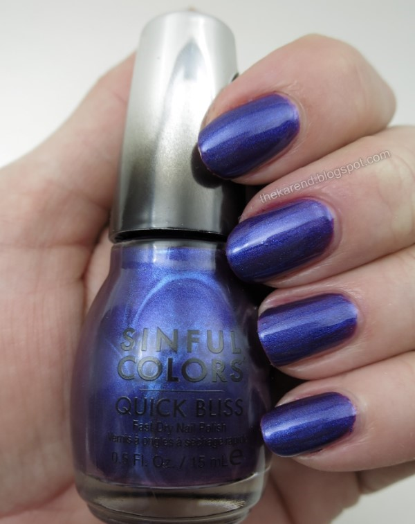 SinfulColors Quick Bliss Fast Ride